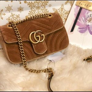 Gucci Marmont Velvet shoulder/crossbody bag